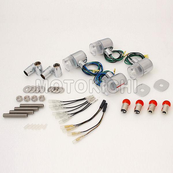 (POSH) ポッシュ 031592-53 車種専用 クラシカル71タイプウインカー 1台分セット メッキボディ/クリアレンズ ゼファー ZEPHYR1100/RS 750/RS 400/χ ZRX400II