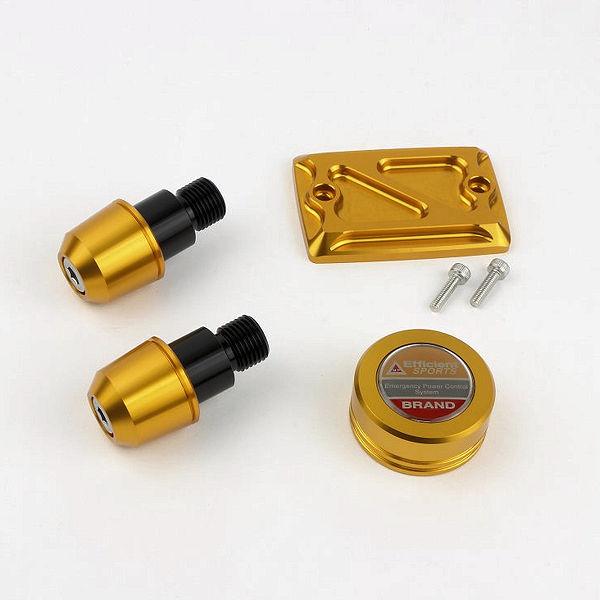 POSH ポッシュ 065049-04 ドレスアップ3点セット ゴールド MT-07/MT-09(-'17)