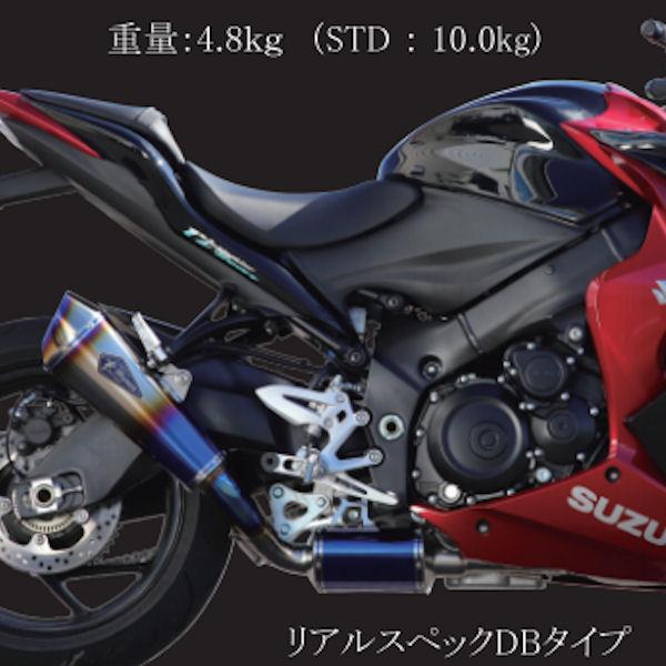 アールズギア r's Gear RS11-01RD ワイバン リアルスペックDB フルエキゾーストマフラー SUZUKI GSX-S1000/F ABS
