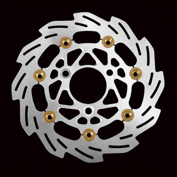 シフトアップ SHIFT UP 220mm ウェーブフローティングディスクローター ゴールド KAWASAKI KSR110 208164-33 208164-31 208164-39