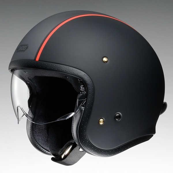 SHOEI J・O JO CARBURETTOR TC-8 オレンジ/ブラック マットカラー ジェット ヘルメット インナーバイザー付き