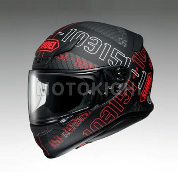 SHOEI Z-7 PERMUTATION フルフェイスヘルメット レッド/ブラック ショウエイ