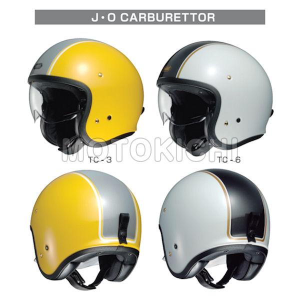 SHOEI J・O JO CARBURETTOR ジェット ヘルメット インナーバイザー付き