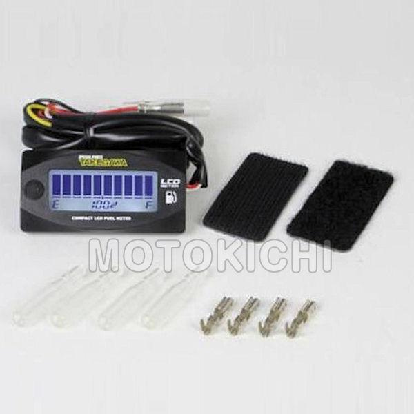 SP武川 タケガワ 05-07-0002 コンパクトLCD フュ-エルメーター LEDバックライト付き 汎用 旧品番:07-04-0019