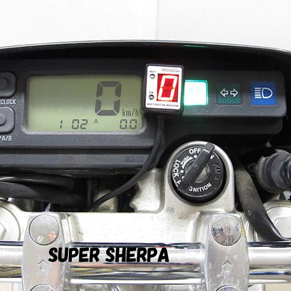 プロテック SPI-K66 シフトポジションインジケーター (No.11079 KLX250 Dトラッカー SUPER SHERPA【KAWASAKI】