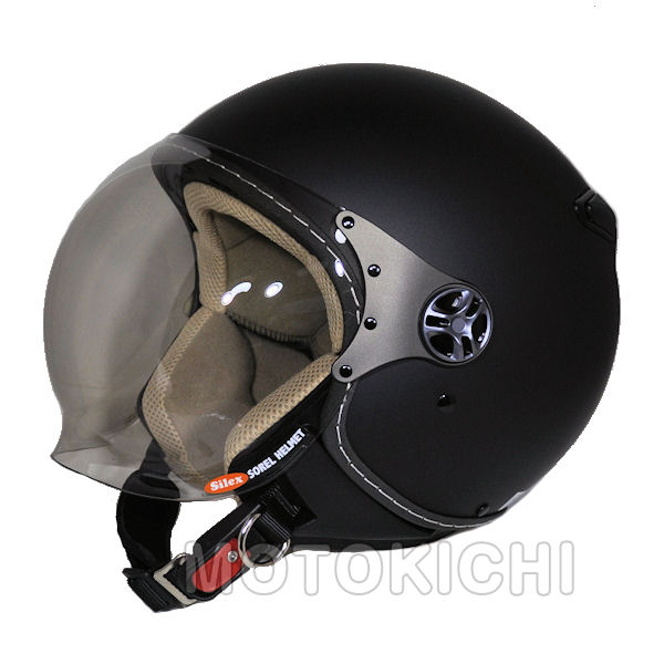 【あす楽対応】シレックス ソレル 'SOREL' ジェットヘルメット ZS-211K-SMBM シャインマットブラック フリーサイズ(57~58cm) レディース Silex 'SOREL'