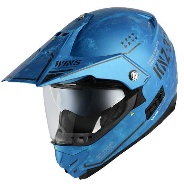 【在庫あり】WINS X-ROAD COMBAT D10 サマルカンドブルー XLサイズ モトクロス トレイル ヘルメット
