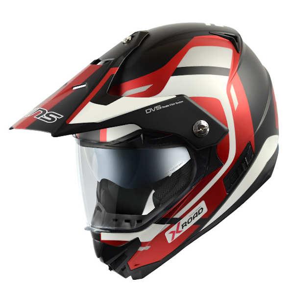 WINS X-ROAD FREE RIDE マットホワイト/アイアンレッド モトクロス トレイル ストリート ヘルメット