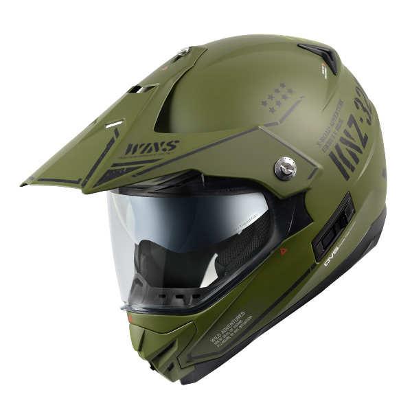 WINS X-ROAD COMBAT マットアーミーグリーン × ブラック XLサイズ モトクロス トレイル ヘルメット
