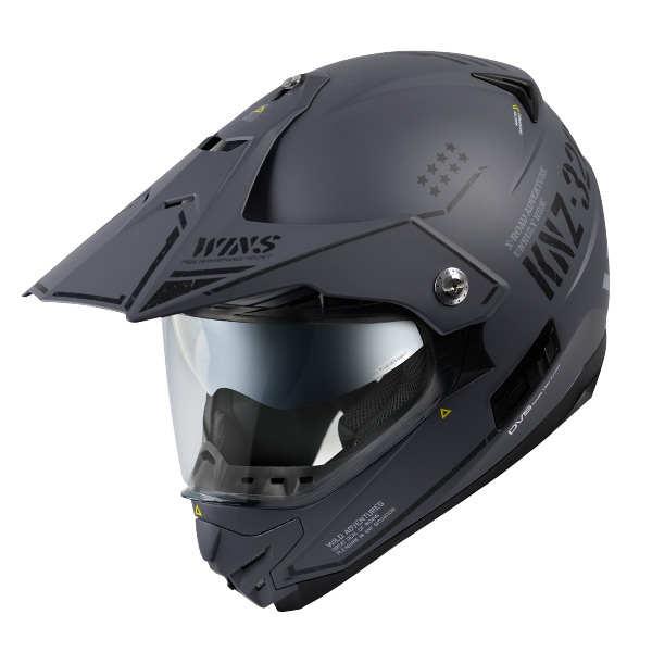 【メーカー取寄せ/欠品中】WINS X-ROAD COMBAT マットアーミーグレー Lサイズ モトクロス トレイル ヘルメット