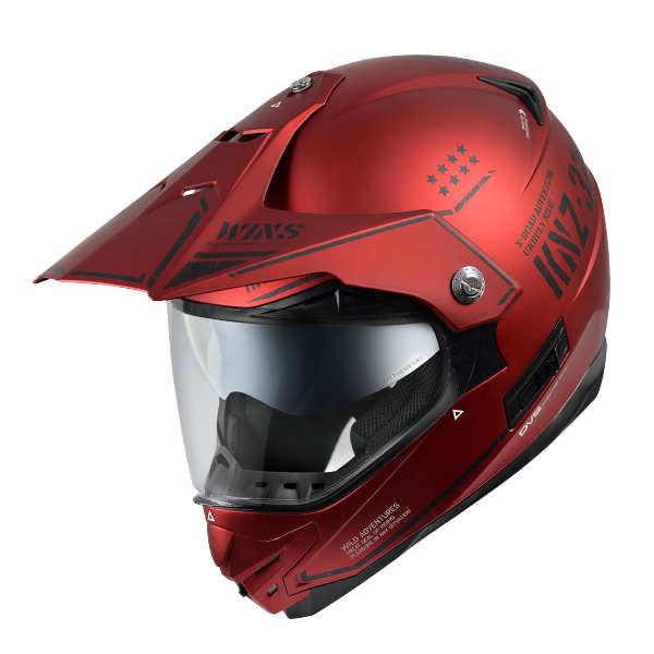 WINS X-ROAD COMBAT マットアイアンレッド XLサイズ モトクロス トレイル ヘルメット