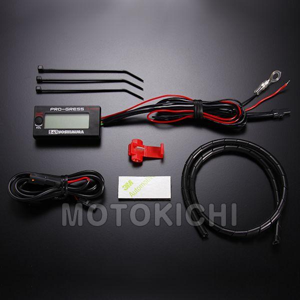 ヨシムラ YOSHIMURA 419-P01-0100 PRO-GRESS1 テンプ・ボルトメーター 水温計 電圧計