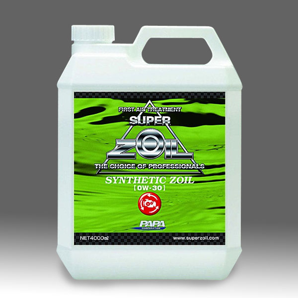 ZOIL ゾイル SYZ4L30  SYNTHETIC ZOIL ゾイル 0W-30 油膜+金属表面改質(100%化学合成オイル) 4000ml