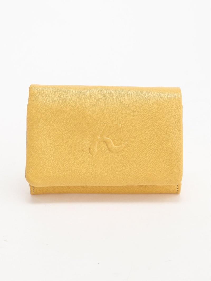 [ Fashion](W)二折財布 ZH0404 Kitamura キタムラ 財布/小物 革小物 イエロー ネイビー ブラック【送料無料】