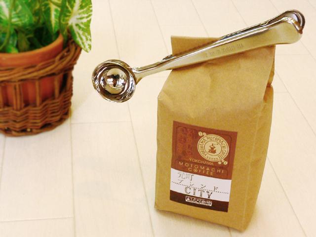 開封した袋をパチンと止める クリップとスプーンがひとつになった便利なコーヒーメジャースプーンです バール 在庫限り コーヒースクープ クリップ M 4942334014345 登場大人気アイテム 18-8ステンレス コーヒースプーン 014345 さじ コーヒーメジャー