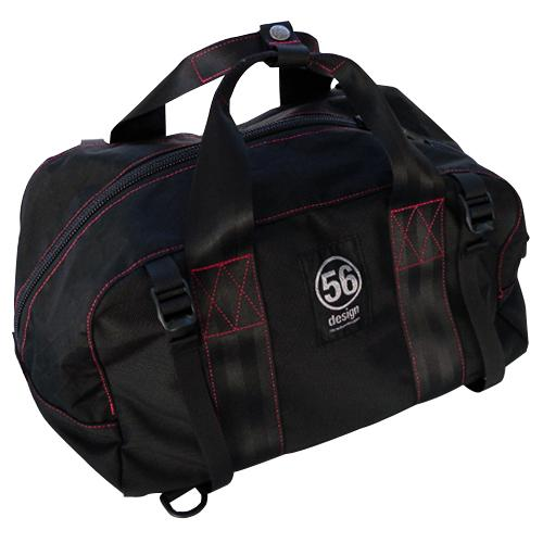BULLET X 56DESIGN BALLISTIC BOSTON & BACK PACK BAG BLACK×RED (バリスティック ボストン&バックパックバッグ ブラック×レッド)】