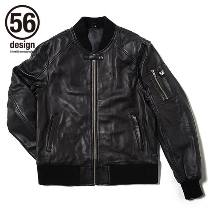 56デザイン 56design ライダースジャケット ライディングウェア 56 R-LINE LIGHT LEATHER JACKET メンズ レザー ライディング バイク アウター ジャケット バイカー ライダー メンズ ファッション