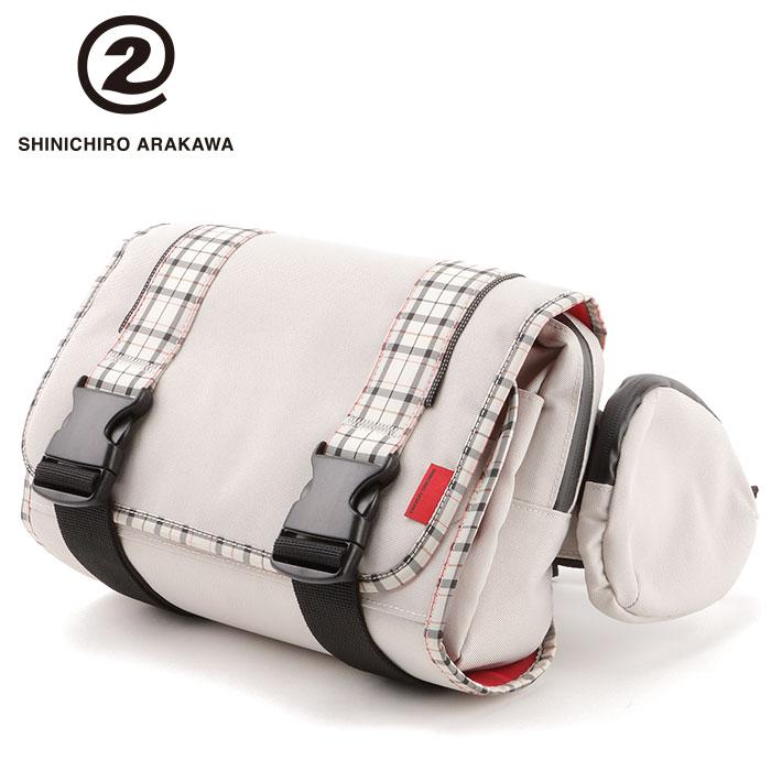 【シンイチロウ アラカワ/SHINICHIRO ARAKAWA】 マップバッグ アイボリー ツーリングバッグ ユニセックス MAP BAG