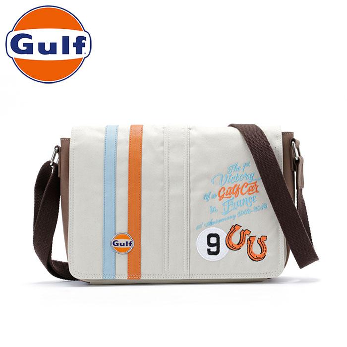 【ガルフ/GULF】ストライプ ビクトリー バッグ ミディアム メッセンジャーバッグ ショルダーバッグ サンド