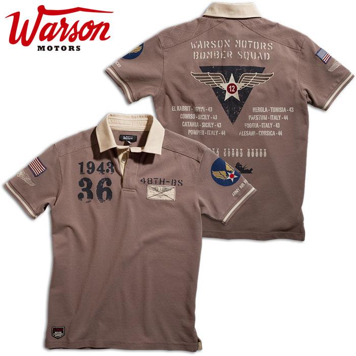 アウトレット【ワーソンモータース/Warson Motors】Bomber ボンバー ポロシャツ メンズ ミリタリー 半袖 ポロシャツ【SM】【3】アウトレット