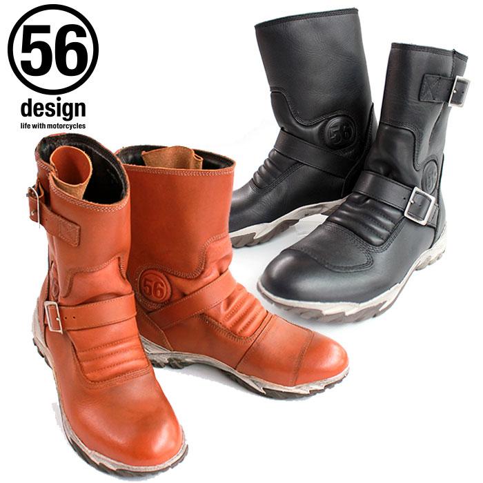 ライディングブーツ 56デザイン 56design 56design Leather Riding Boots ライディングブーツ バイク ツーリング