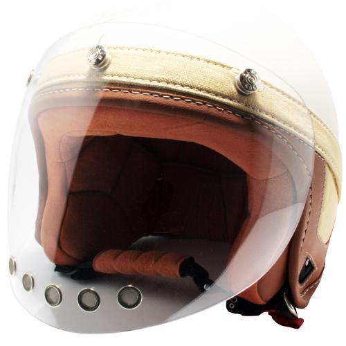 ポイント5倍【モトーリモーダ/Motorimoda】 VINTAGE 3STUDS VISOR WIDE CLEAR(ビンテージ 3スタッズ用バイザー ワイド クリア) バイク シールド バイザー