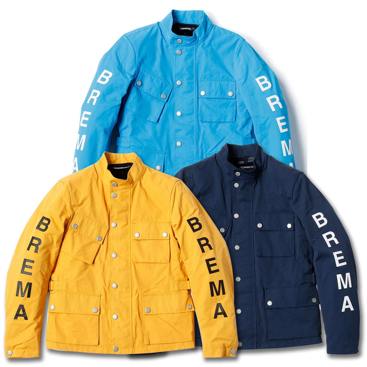 1969年にイタリアで設立された伝統あるオートバイアパレルブランドBREMA ブレマ BREMA 現品 SILVER 卓抜 VASE J-MAN ジャケット オフロードレース アウター バイク メンズ