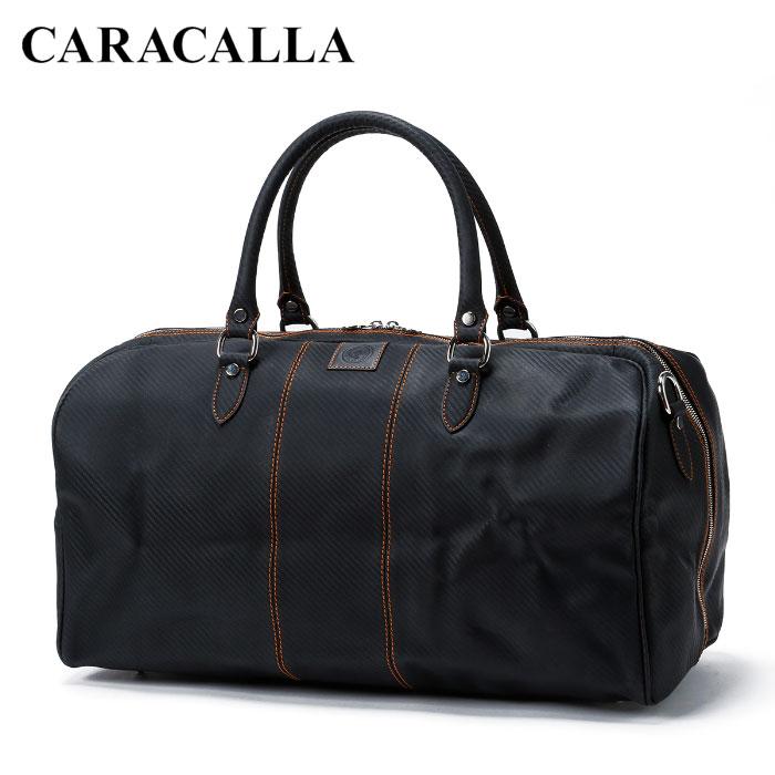 送料無料 イタリア製 バッグ カバン カラカーラ CARACALLA ハンドメイド カルボニオ・モンツァ・ホールドオール/ネロ・アランチョーネ ボストンバッグ バレンタイン 高級 ギフト