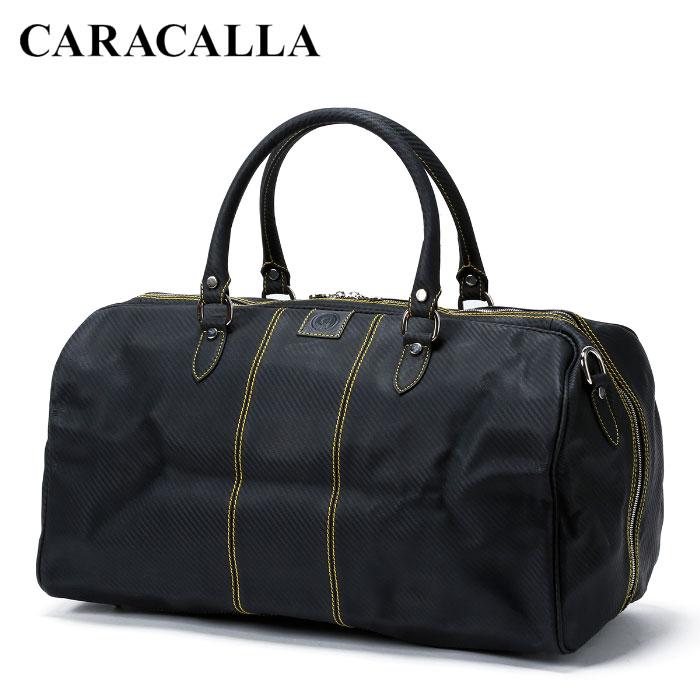 送料無料 イタリア製 バッグ カバン カラカーラ CARACALLA ハンドメイド カルボニオ・モンツァ・ホールドオール/ネロ・ジャッロ ボストンバッグ バレンタイン 高級 ギフト