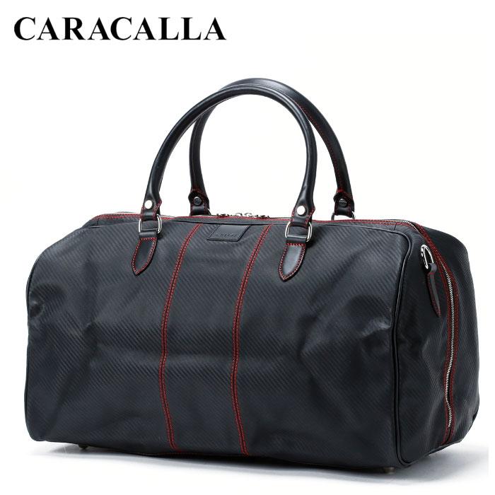 送料無料 イタリア製 バッグ カバン カラカーラ CARACALLA ハンドメイド カルボニオ・モンツァ・ホールドオール/ネロ・ロッソ ボストンバッグ バレンタイン 高級 ギフト