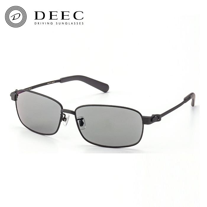【ディーク/DEEC】Long Beach Matte Black Gray Polarized ドライビング サングラス チタンフレーム 日本製 鯖江