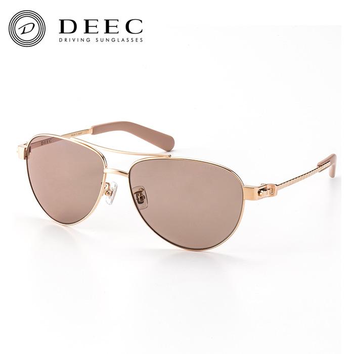 【ディーク/DEEC】Charade Pink Gold Rosebrown Polarized ドライビング サングラス チタンフレーム 日本製 鯖江