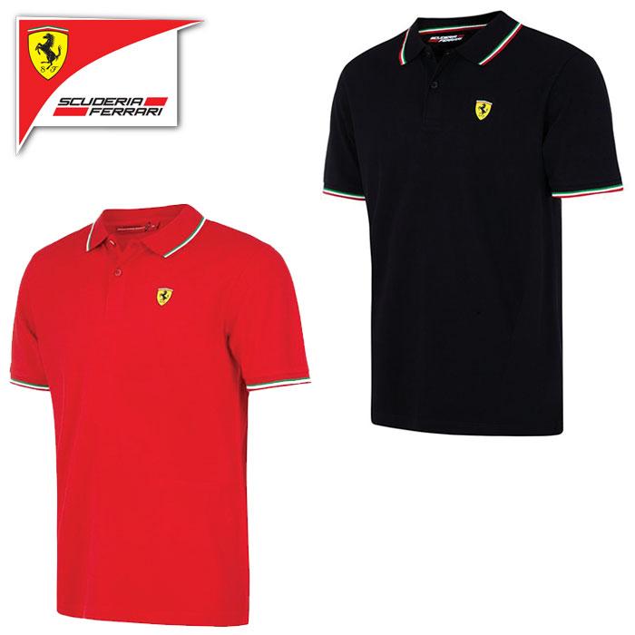 【フェラーリ/FERRARI】フェラーリ トリコロール ポロシャツ 半袖 メンズ F1