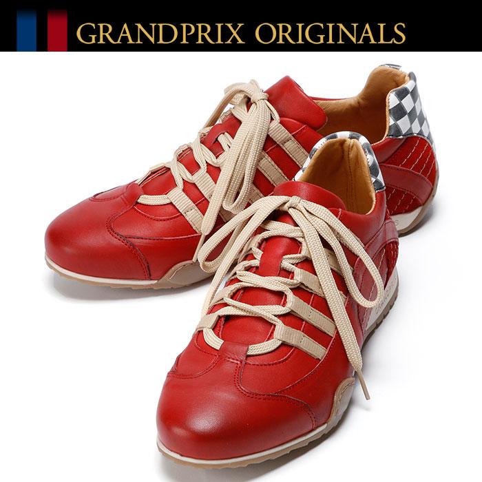 【グランプリ オリジナル/GRANDPRIX ORIGINALS】GPO Racing Sneaker Corso Rosso スニーカー レッドドライビングシューズ ハンドメイド