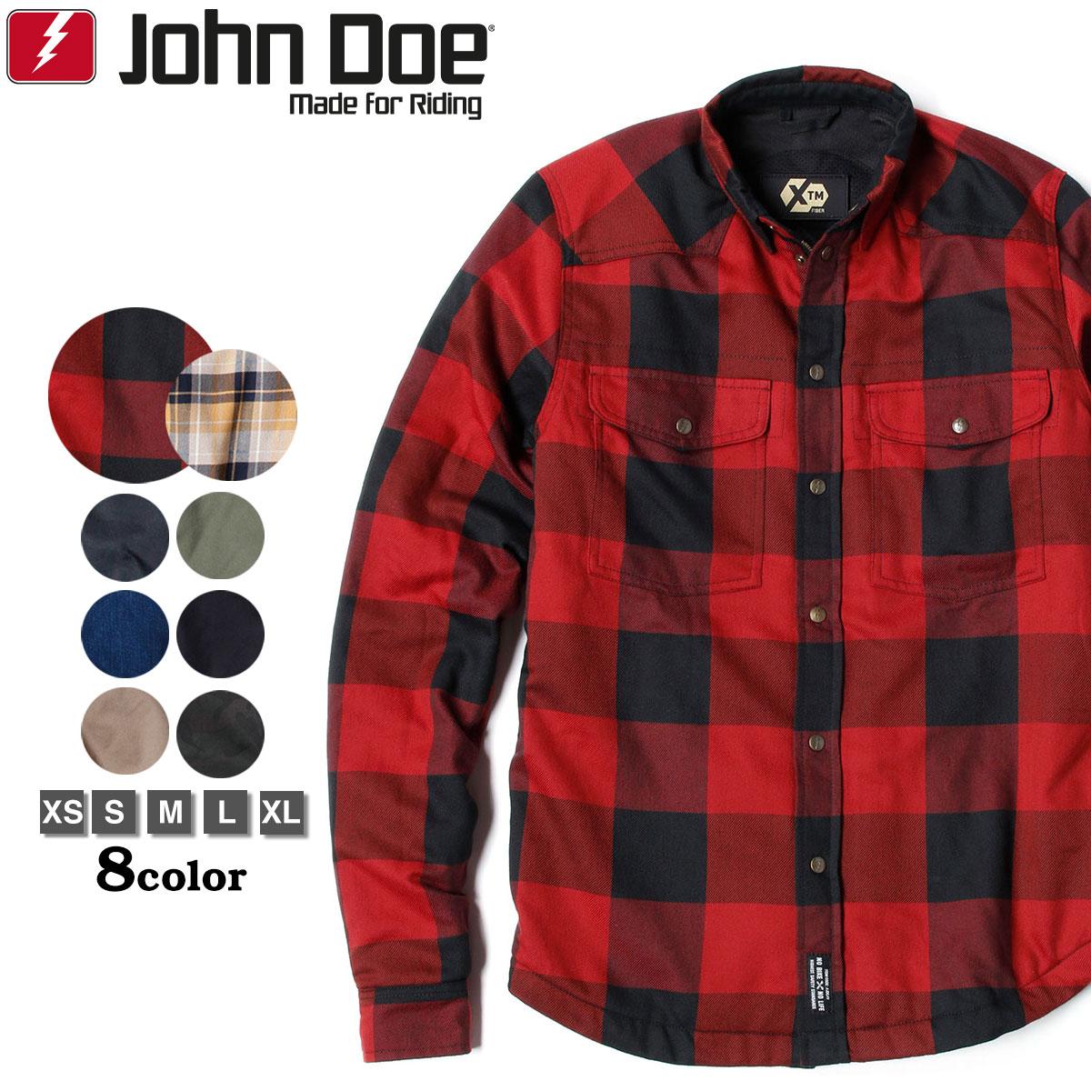 常に革新を目指 パフォーマンスを追求し続けているドイツのライディングギアブランド John Doe ジョン ドゥー 上等 XTM アウター バイク ランバージャックスタイル モトシャツ ライディングジャケット CE認定 税込 シャツ型ジャケット