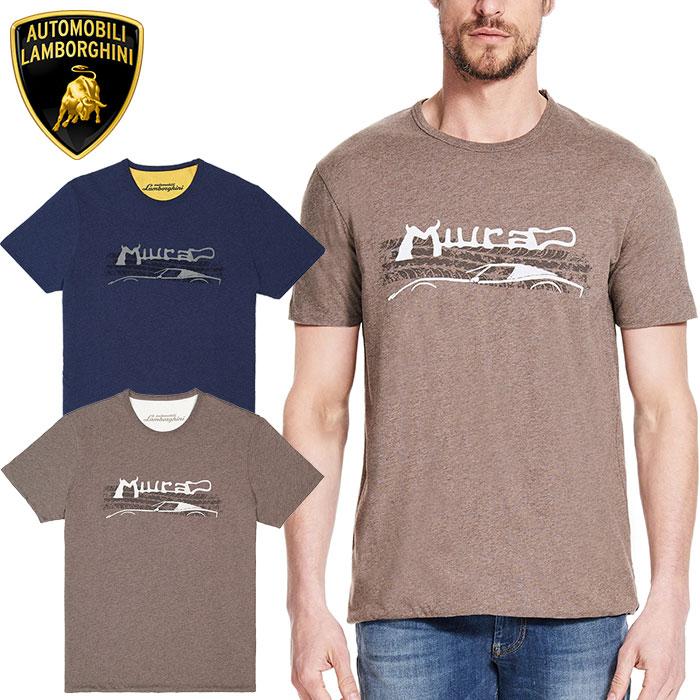 【ランボルギーニ/Lamborghini】MIURA リバーシブル Tシャツ ブラウン×ホワイト メンズ MEN'S MIURA REVERSIBLE T-SHIRT スーパーカー【6】【OT】