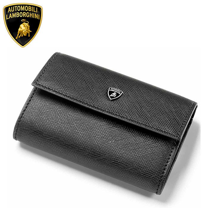 ランボルギーニ Lamborghini ランボ小銭入れ ブラック CLASSIC LEATHER COIN POUCH