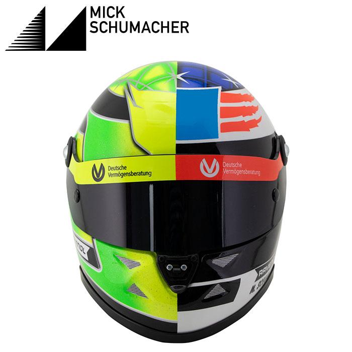 【ミック シューマッハ/Mick Schumacher】1/2スケール 2017 ベルギー スパ レプリカ ヘルメット グリーン