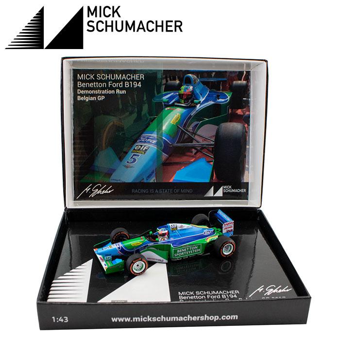 【ミック シューマッハ/Mick Schumacher】ミニチャンプス 1/43スケール ベネトン・フォード B194 2017 ベルギーGP デモラン