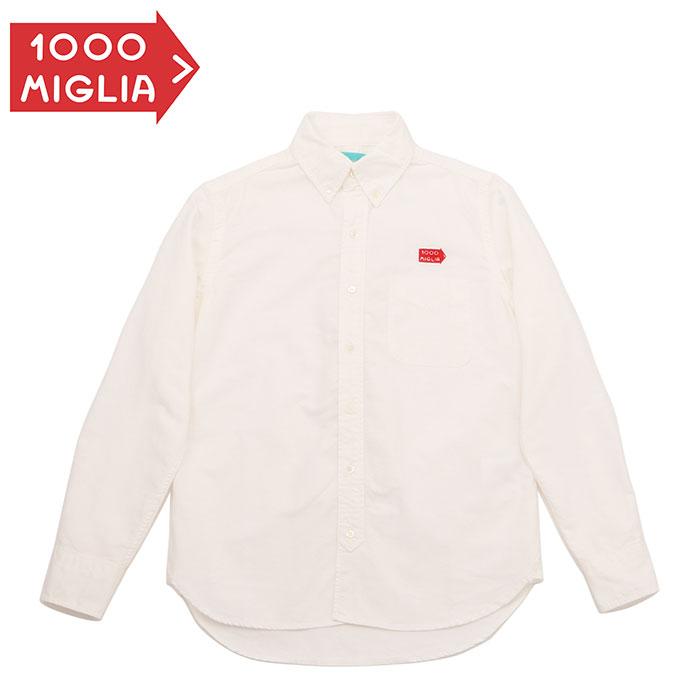 【ミッレ ミリア/Mille Miglia】BD オックスフォードシャツ メンズ ボタンダウン 長袖 ロゴ刺繍