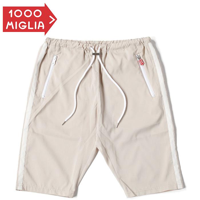 【ミッレ ミリア/Mille Miglia】NYLON TAFTA SHORT PANTS 日本製 ショートパンツ 光沢感
