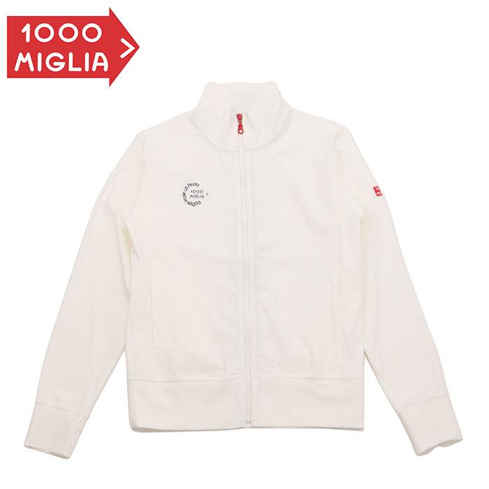 【ミッレ ミリア/Mille Miglia】ストレッチ ジャージ メンズ ホワイト ジップアップシャツ ストレッチ ロゴワッペン ロゴ刺繍 STRETCH JERSEY