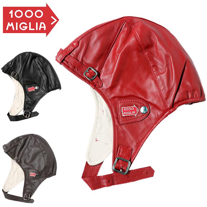 【ミッレ ミリア/Mille Miglia】パイロット ヘッドセット レザー製 ヘッドギア クラシック レース