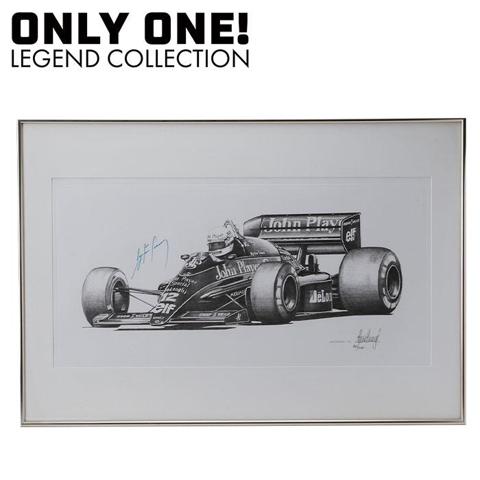 最高級 ポイント5倍 signed! Stammers!【ONLY Pencil ONE LEGEND COLLECTION】ロータス ルノー 98T アイルトン・セナ 直筆サイン入り 鉛筆画 Ayrton Senna signed Pencil drawing LOTUS 98T by Alan Stammers, ひのきの香り届けます:6e8dc1ff --- newplan.com