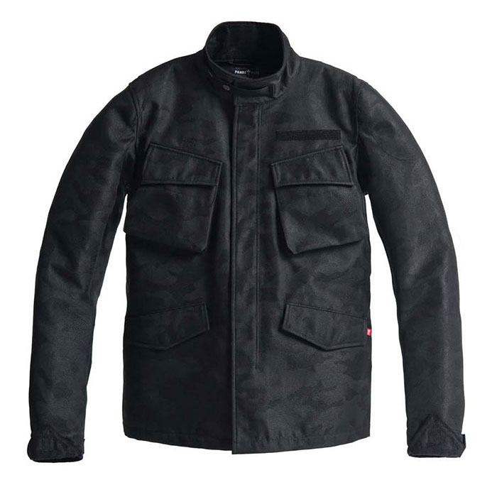 ポイント2倍【パンド モト/PANDO MOTO】Camo Black バイク アウター ジャケット ユニセックス M65タイプ ミリタリー
