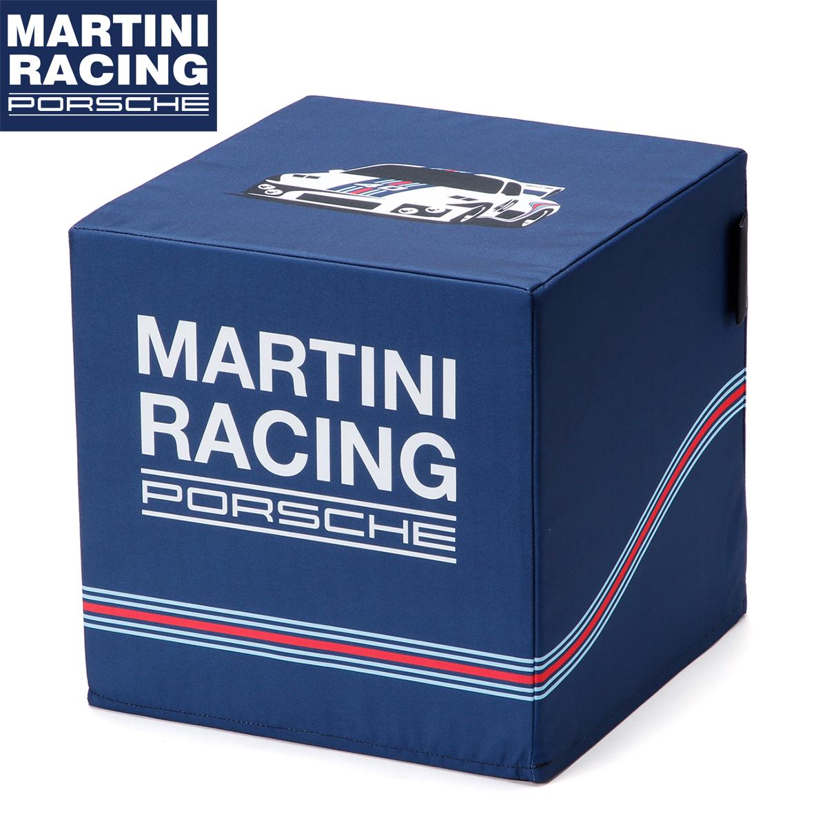 【ポルシェ マルティニ レーシング/PORSCHE MARTINI RACING】サイコロ チェア キューブ型 ポルシェ935 防水性 インテリア