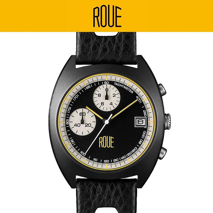 【ルー/ROUE】CHR TWO 腕時計 メンズ レトロスタイル 2バンド付属 タキメーター 最上位モデル