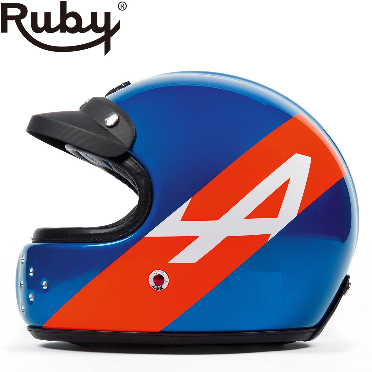 予約/受注生産【ルビー/Ruby】アルピーヌ カステル ヘルメット フルフェイス ルノー A110 ラニョッティ カーボン製 ※納期2ヶ月程度