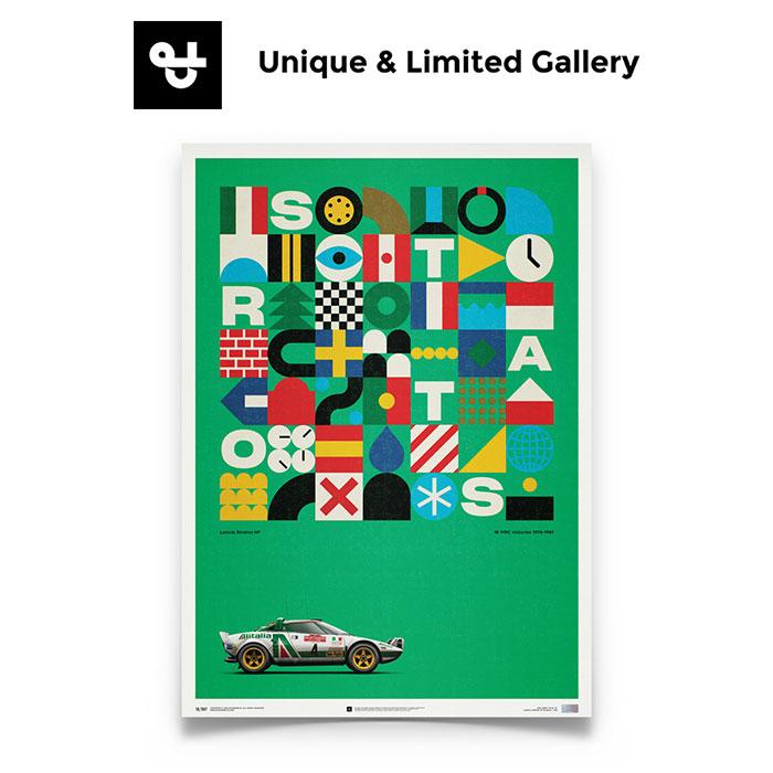 【Unique & Limited Gallery】LANCIA STRATOS HF - ALITALIA LANCIA ランチア STRATOS ストラトス ALITALIA アリタリア サンレモ ラリー ムナーリ WRC 車 ポスター