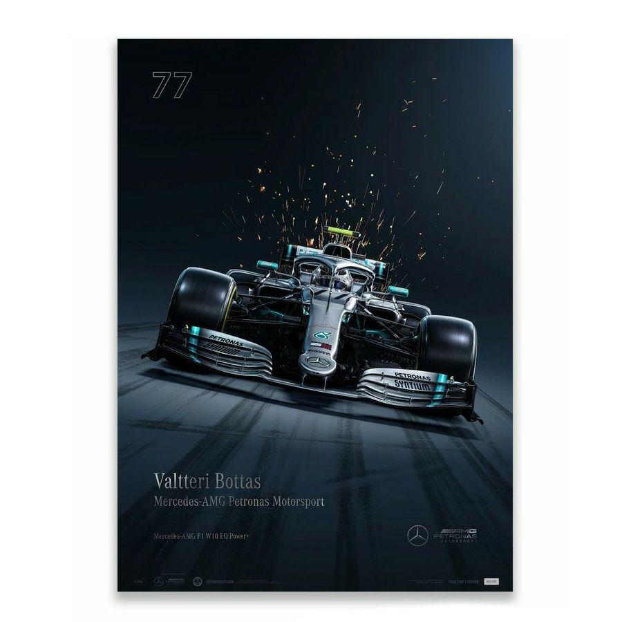 予約7月入荷予定【ユニーク&リミテッド ギャラリー/Unique & Limited Gallery】Mercedes AMG Petronas Motorsport 2019 バルテリ・ボッタス コレクターズ エディション ポスター